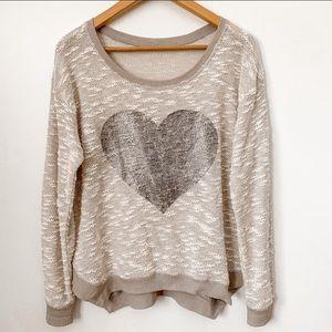 Jessica Simpson Knit Weave Sweatshirt Sweater